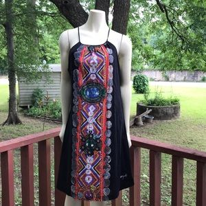 Black midi Desigual dress size 46 XL
